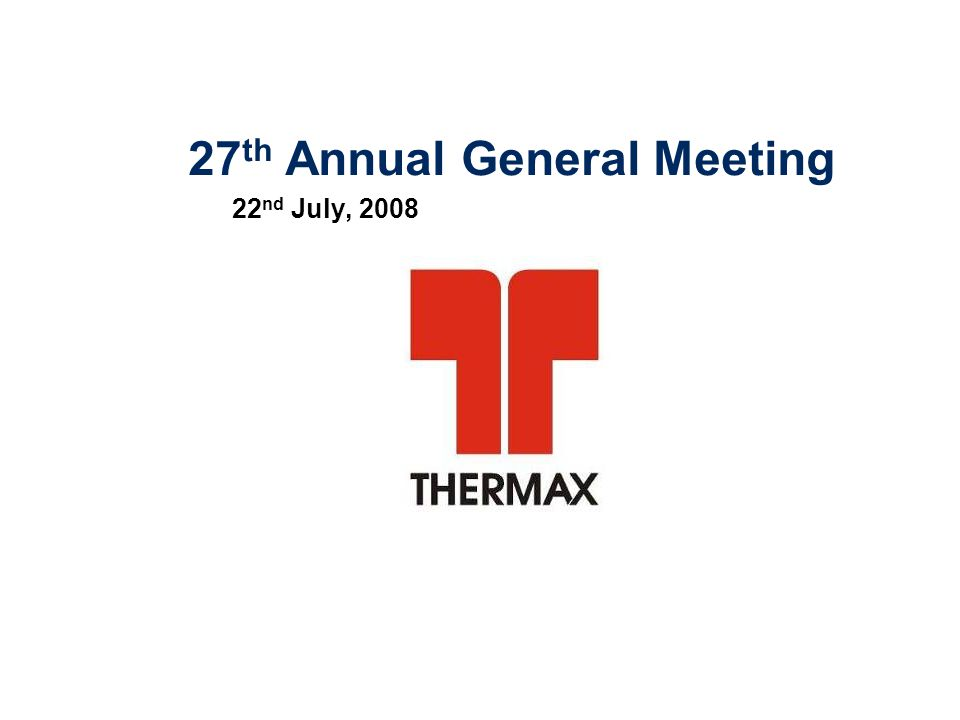 12 Technology Acquisitions/Partnerships…..(Contd) This partnership is for advanced design of air pollution control equipment for power, industrial and utility segments up to 300 MW Partnership between Thermax & Balcke-Dürr, USA