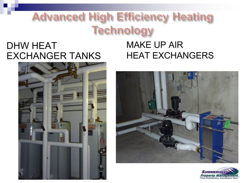 DHW HEAT EXCHANGER TANKS MAKE UP AIR HEAT EXCHANGERS