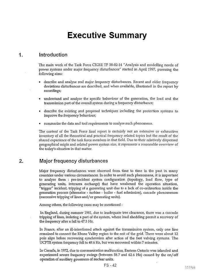 FS - 42 1539pk Executive Summary