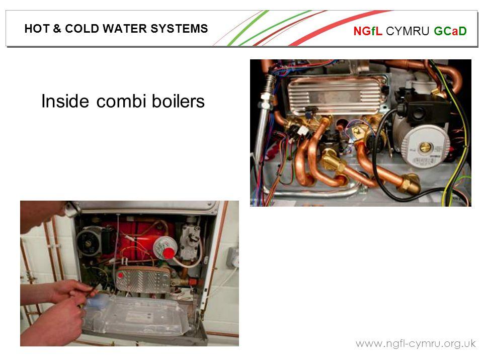 NGfL CYMRU GCaD www.ngfl-cymru.org.uk Inside combi boilers HOT & COLD WATER SYSTEMS