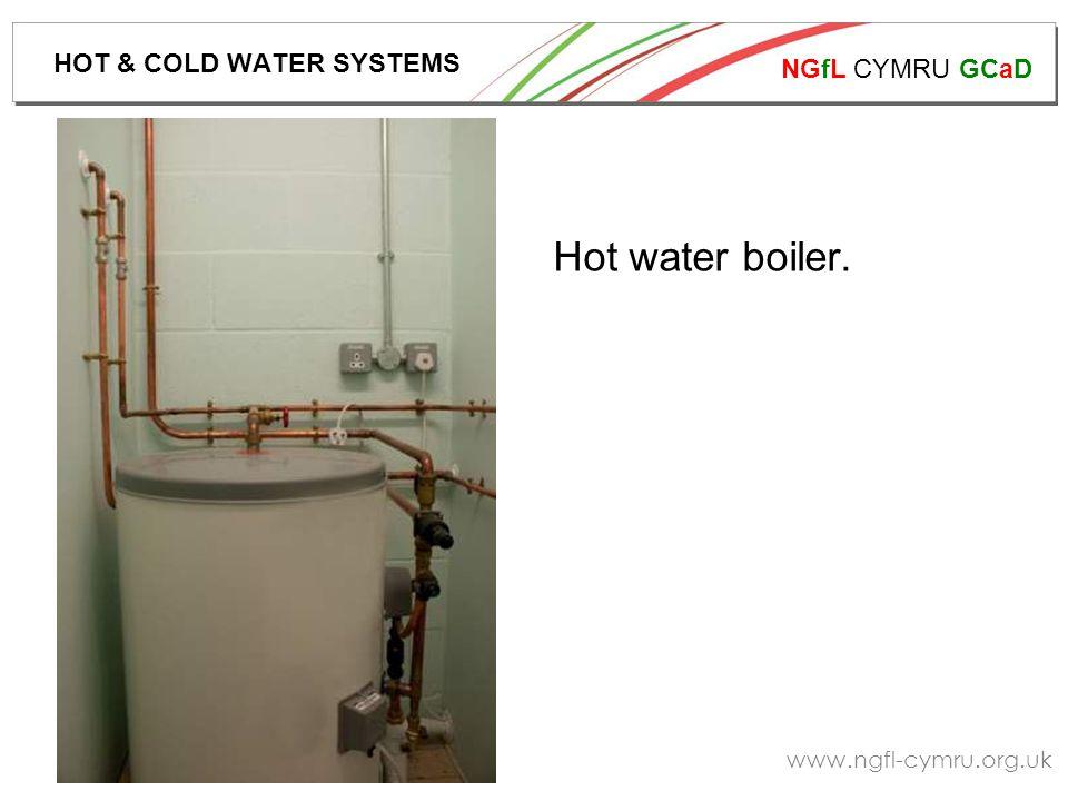 NGfL CYMRU GCaD www.ngfl-cymru.org.uk Hot water boiler. HOT & COLD WATER SYSTEMS