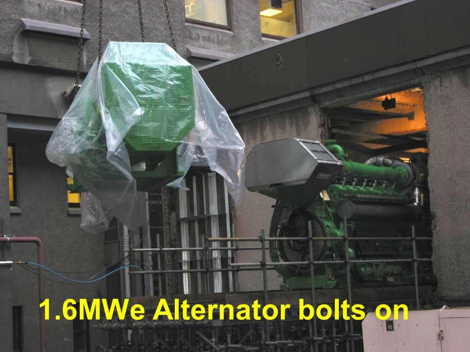 1.6MWe Alternator bolts on