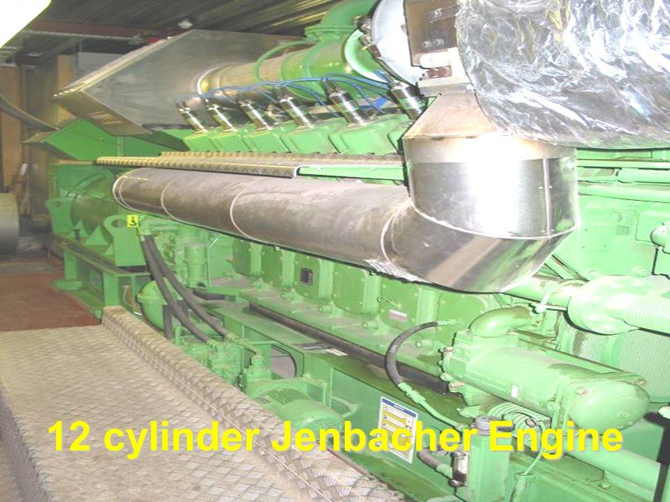 GE Jenbacher 612 Engine 12 cylinder Jenbacher Engine