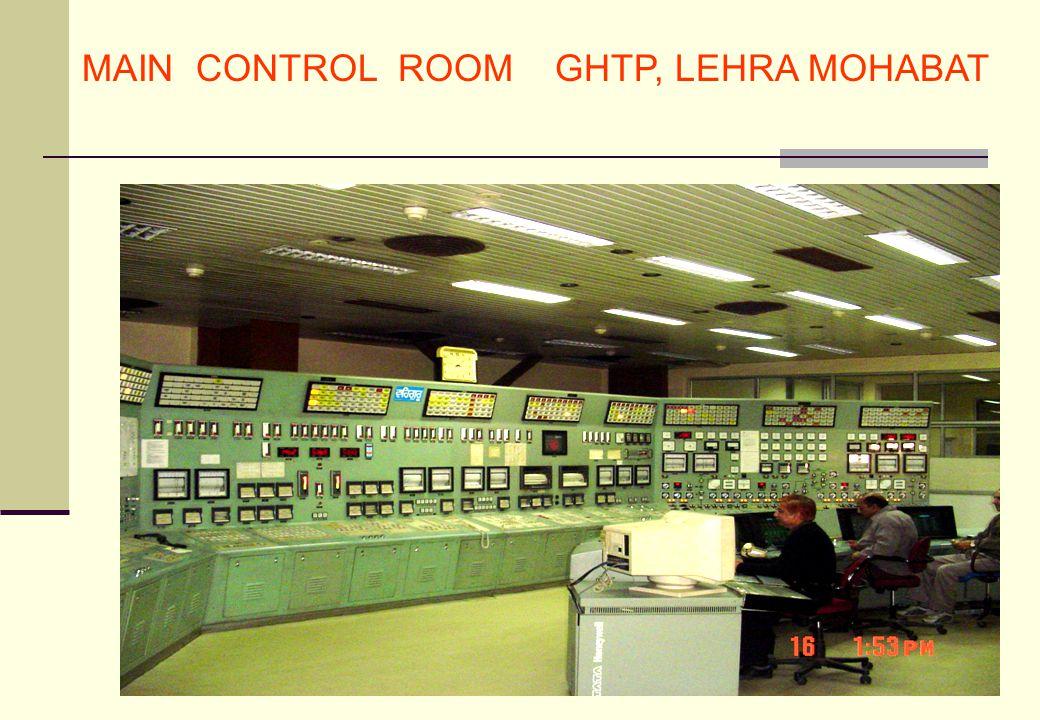 MAIN CONTROL ROOM GHTP, LEHRA MOHABAT