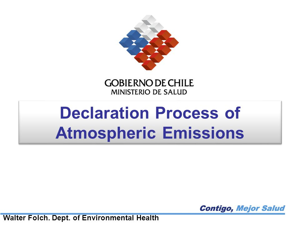 Background The obligation of fixed sources to submit records for health sector about emissions, to estimate these, is contained in regulation D.S.