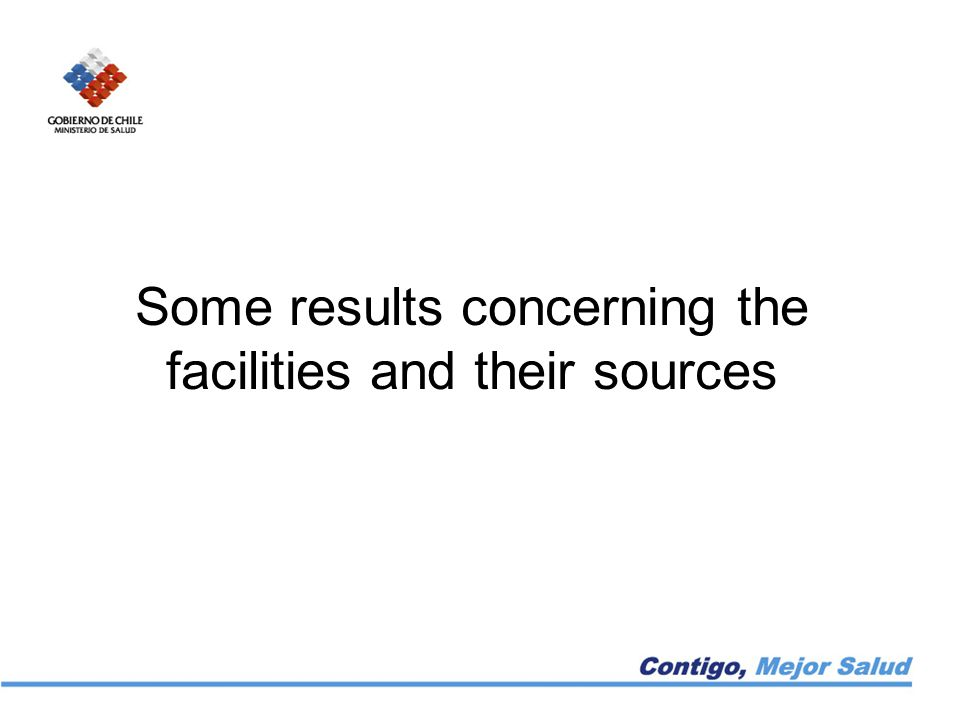 Some results concerning the facilities and their sources
