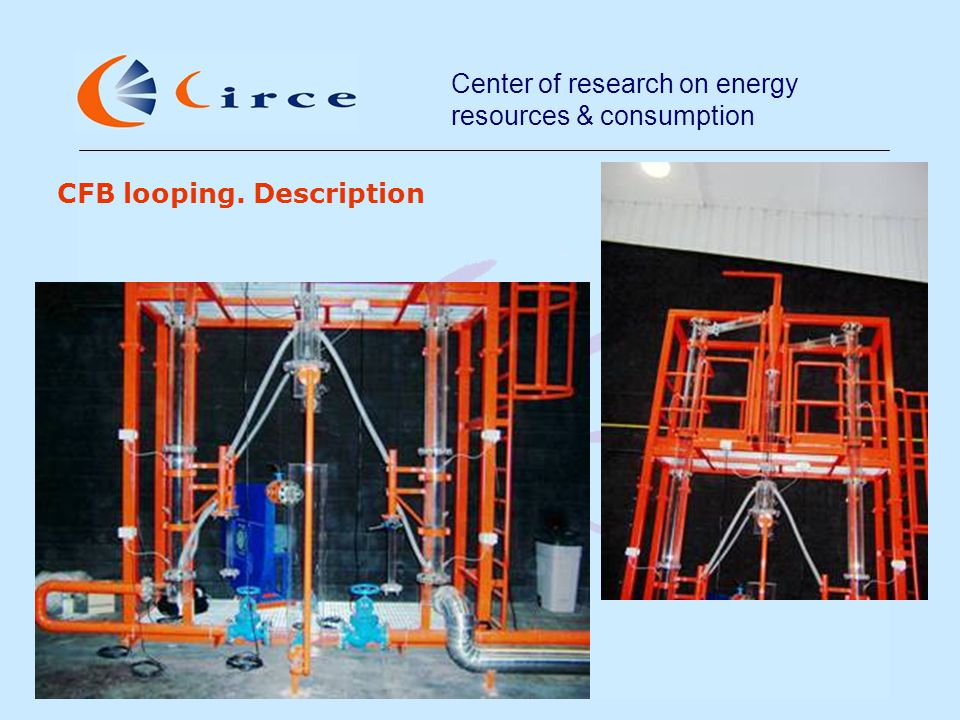 Center of research on energy resources & consumption CFB looping. Description
