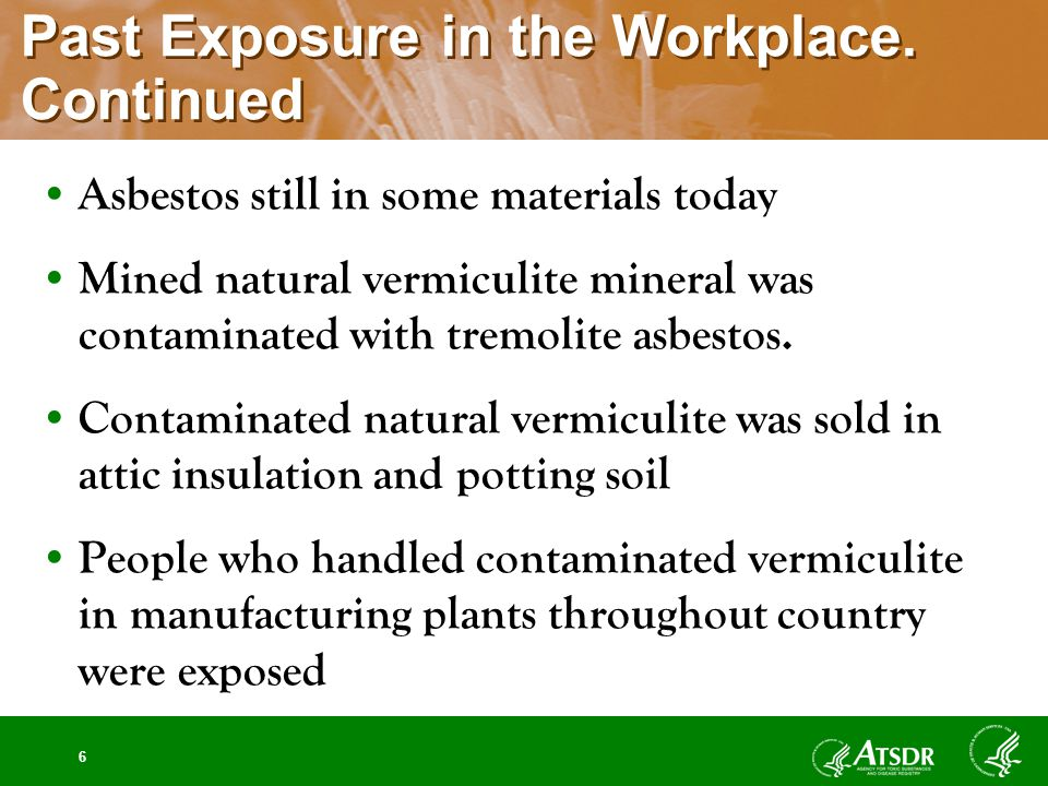 6 Past Exposure in the Workplace.