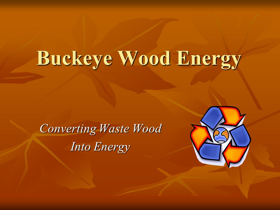 Buckeye Wood Energy Converting Waste Wood Into Energy
