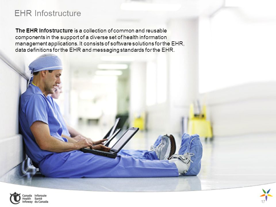 EHR Infostructure 17 The EHR Infostructure is a collection of common and reusable components in the support of a diverse set of health information man
