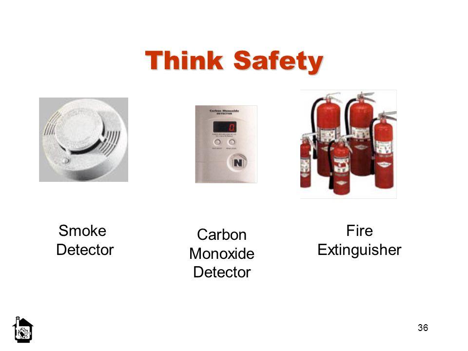 36 Think Safety Smoke Detector Carbon Monoxide Detector Fire Extinguisher