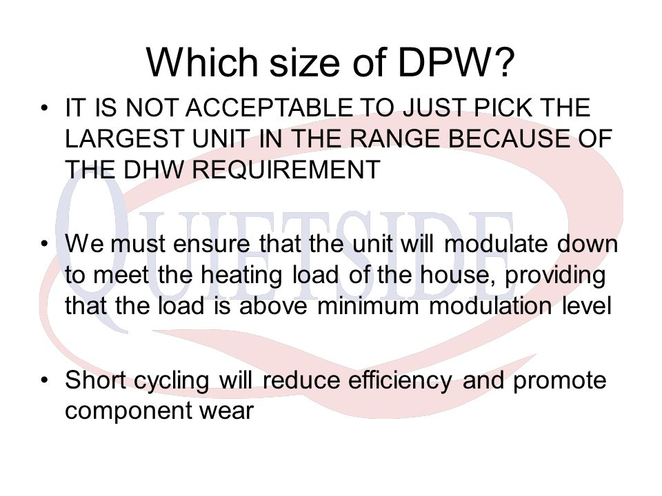 Which size of DPW.
