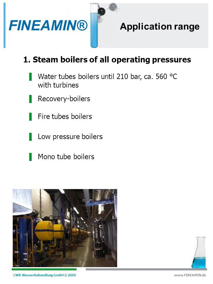 CWB Wasserbehandlung GmbH © 2009 www.FINEAMIN.de 1. FINEAMIN ® – Products FINEAMIN® other biocide products FINEAMIN ® 95 T FINEAMIN ® 94 FINEAMIN ® FI