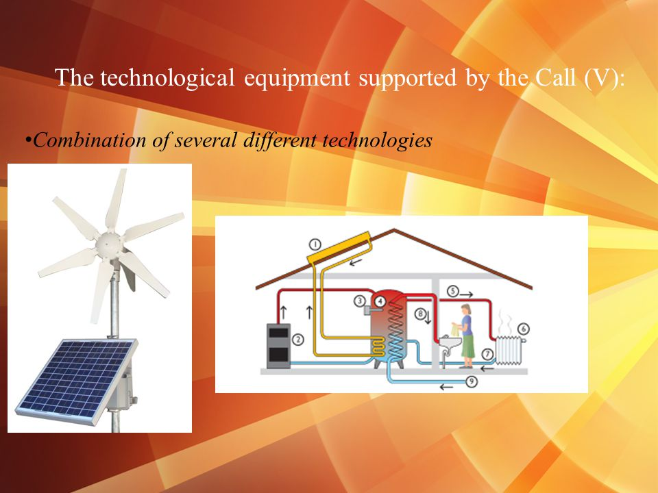 The technological equipment supported by the Call (V): Combination of several different technologies
