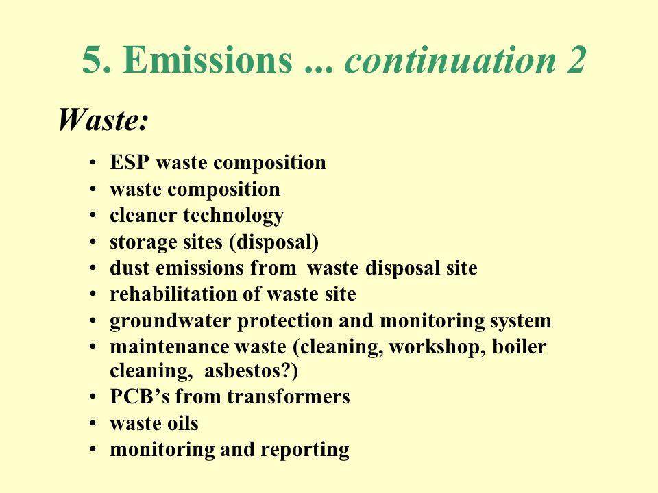 5. Emissions...