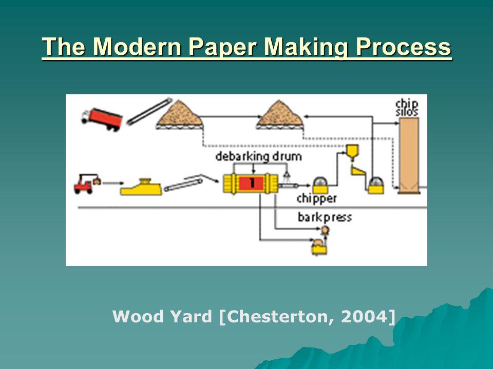 The Modern Paper Making Process Wood Yard [Chesterton, 2004]