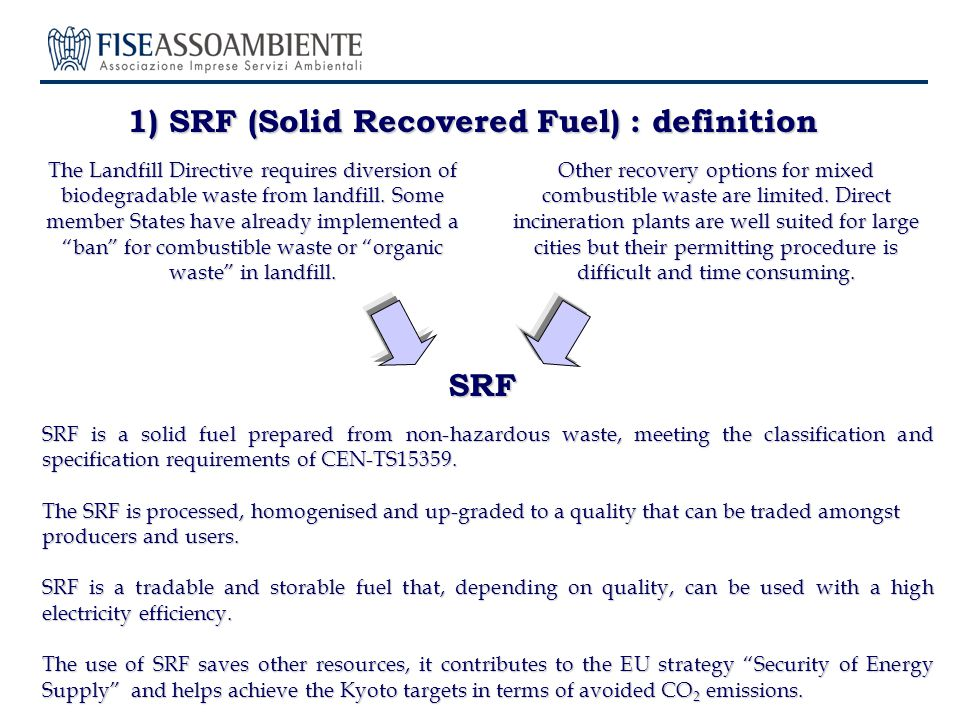 About 10 fluid bed boilers continue to use SRF under WID.