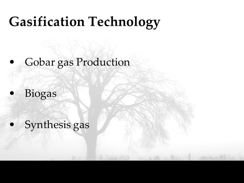 Gasification Technology Gobar gas Production Biogas Synthesis gas
