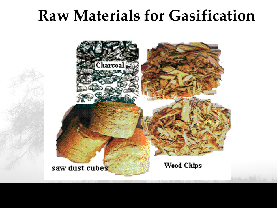 Raw Materials for Gasification