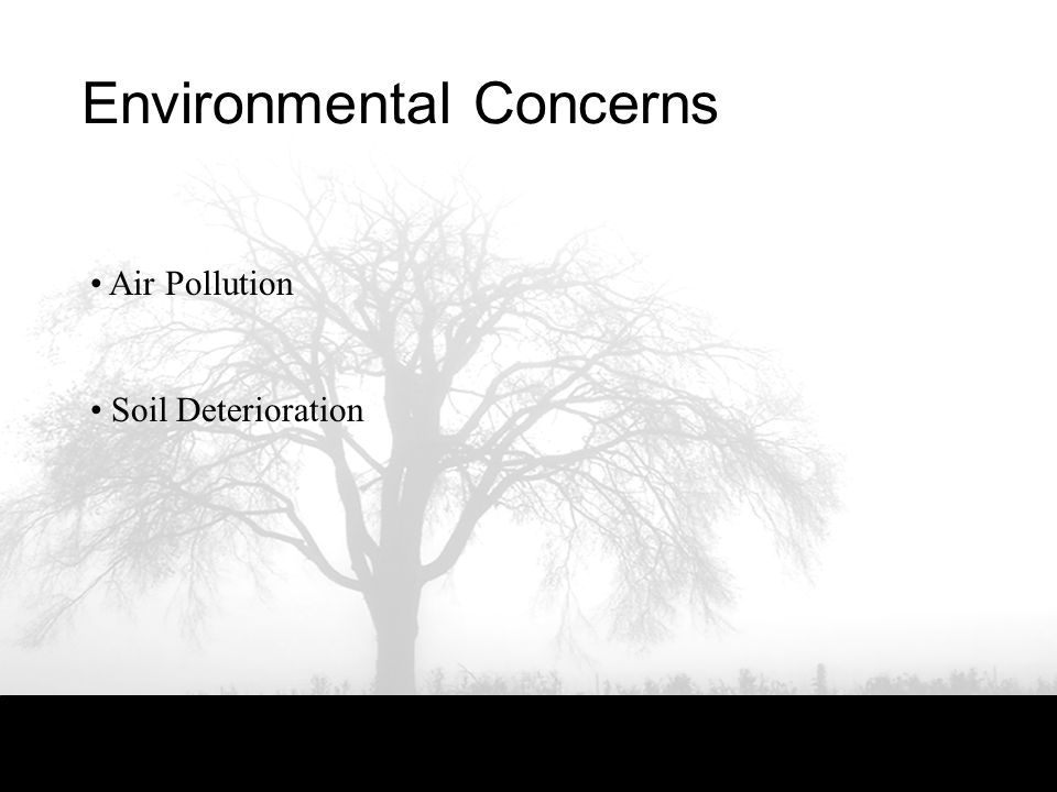 Environmental Concerns Air Pollution Soil Deterioration