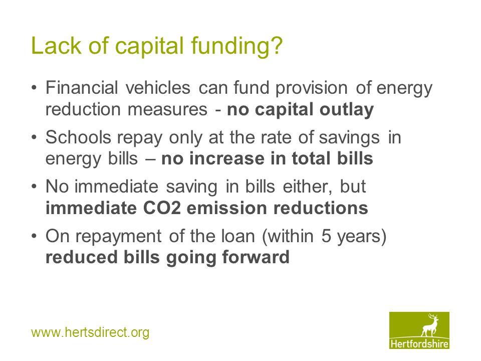 www.hertsdirect.org Lack of capital funding.