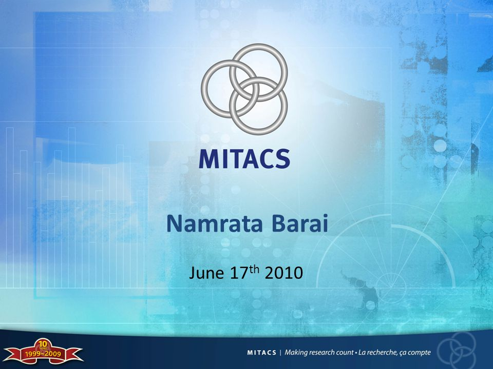 Namrata Barai June 17 th 2010