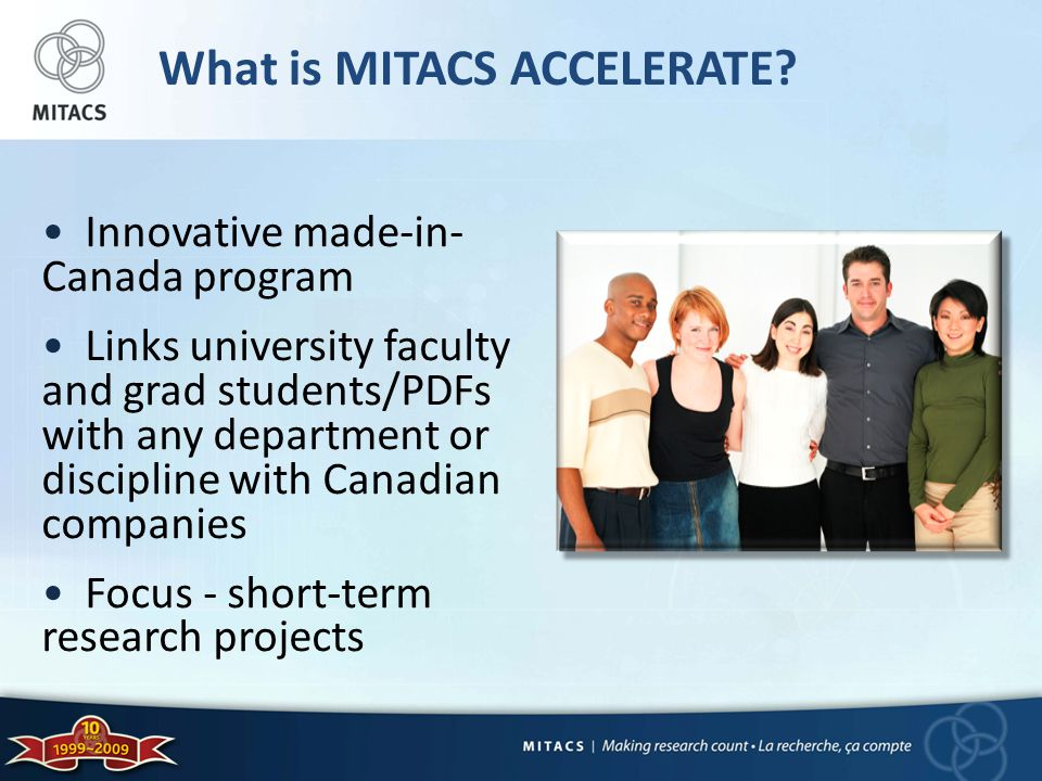 What is MITACS ACCELERATE.