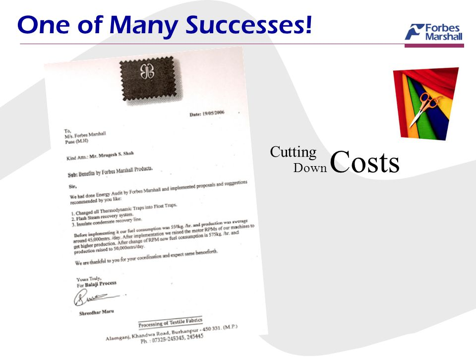 One of Many Successes! Cutting Down Costs