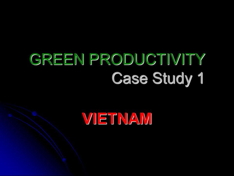 GREEN PRODUCTIVITY Case Study 1 VIETNAM