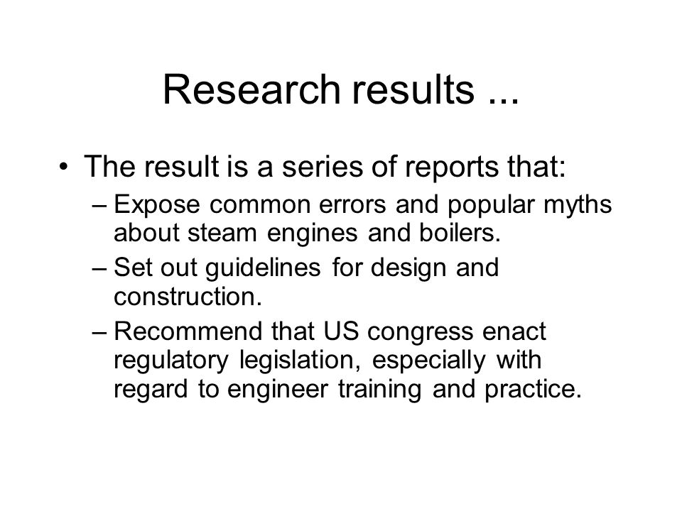 Research results...