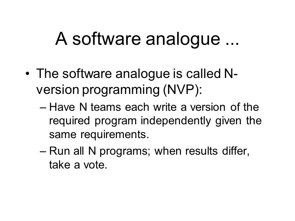 A software analogue...