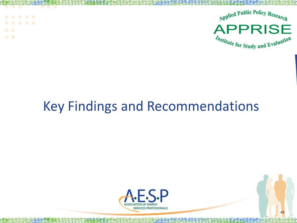 Key Findings and Recommendations 46