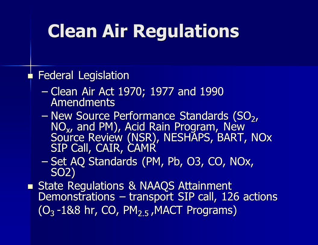 Clean Air Act Amendments 1977 – keeps on giving…..