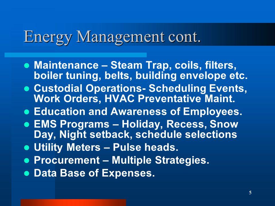 5 Energy Management cont.