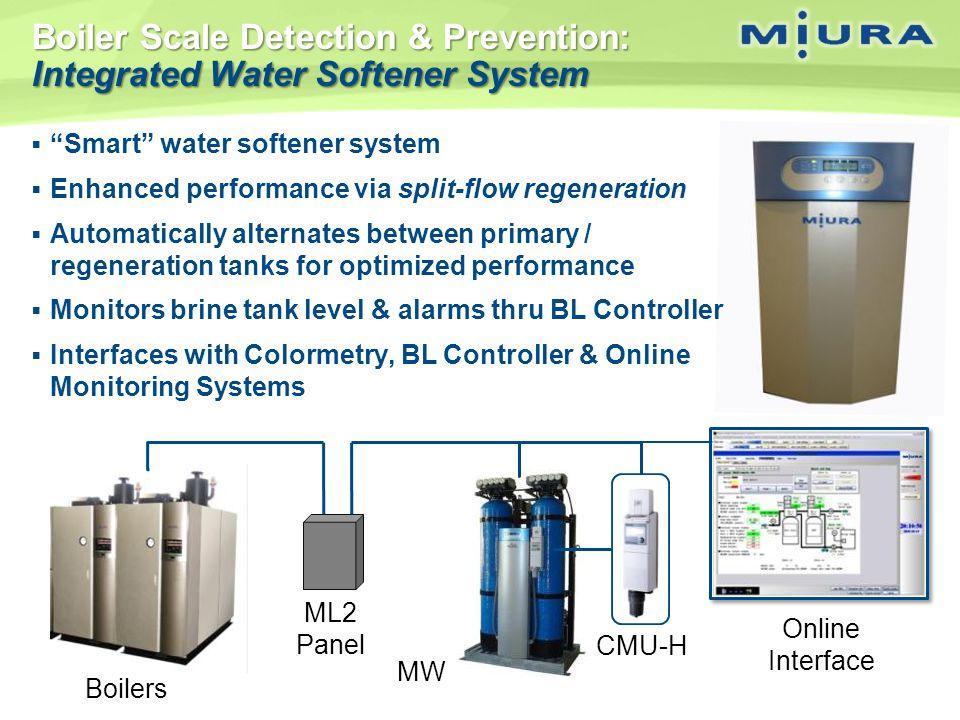 Boiler Scale Detection & Prevention: Integrated Water Softener System Smart water softener system Enhanced performance via split-flow regeneration Aut