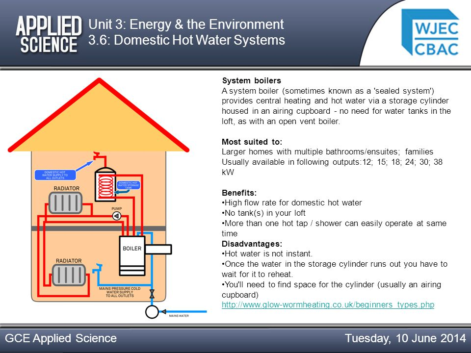 Tuesday, 10 June 2014GCE Applied Science Open vent boilers Open vent boilers are a peculiarly British invention.