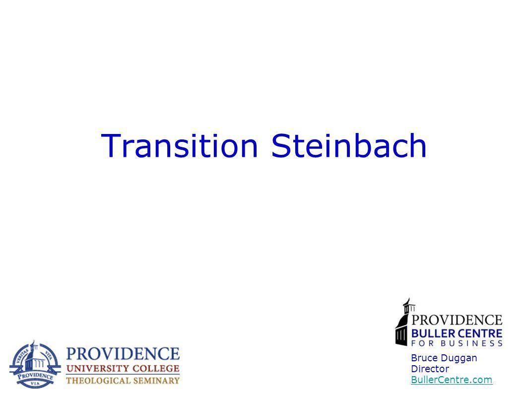 Transition Steinbach Bruce Duggan Director BullerCentre.com