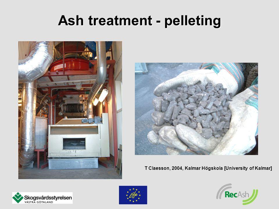 Ash treatment - pelleting T Claesson, 2004, Kalmar Högskola [University of Kalmar]