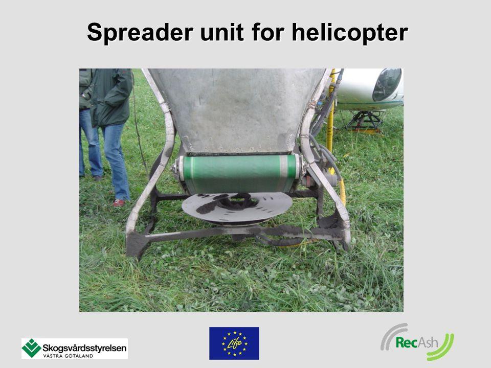 Spreader unit for helicopter