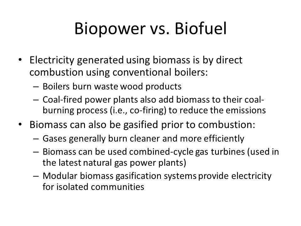 Biopower vs.