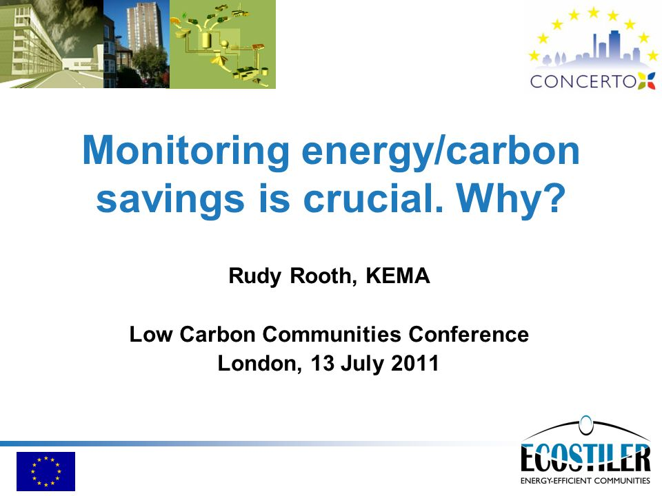 Monitoring energy/carbon savings is crucial. Why.