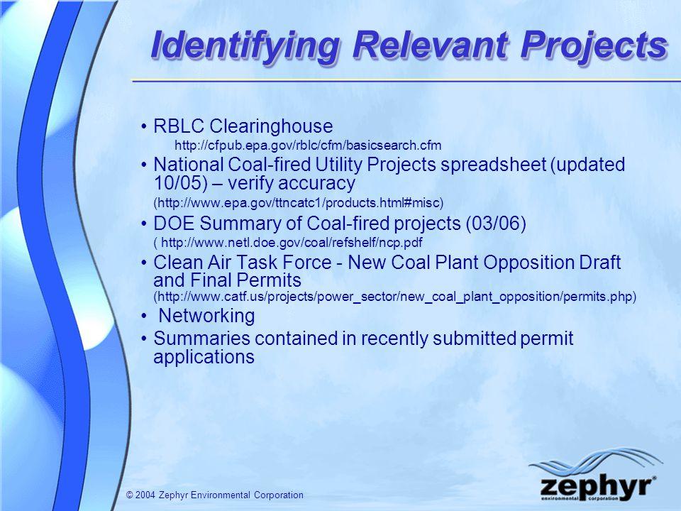 © 2004 Zephyr Environmental Corporation Contact Information Jennifer Sharp Seinfeld, P.E.