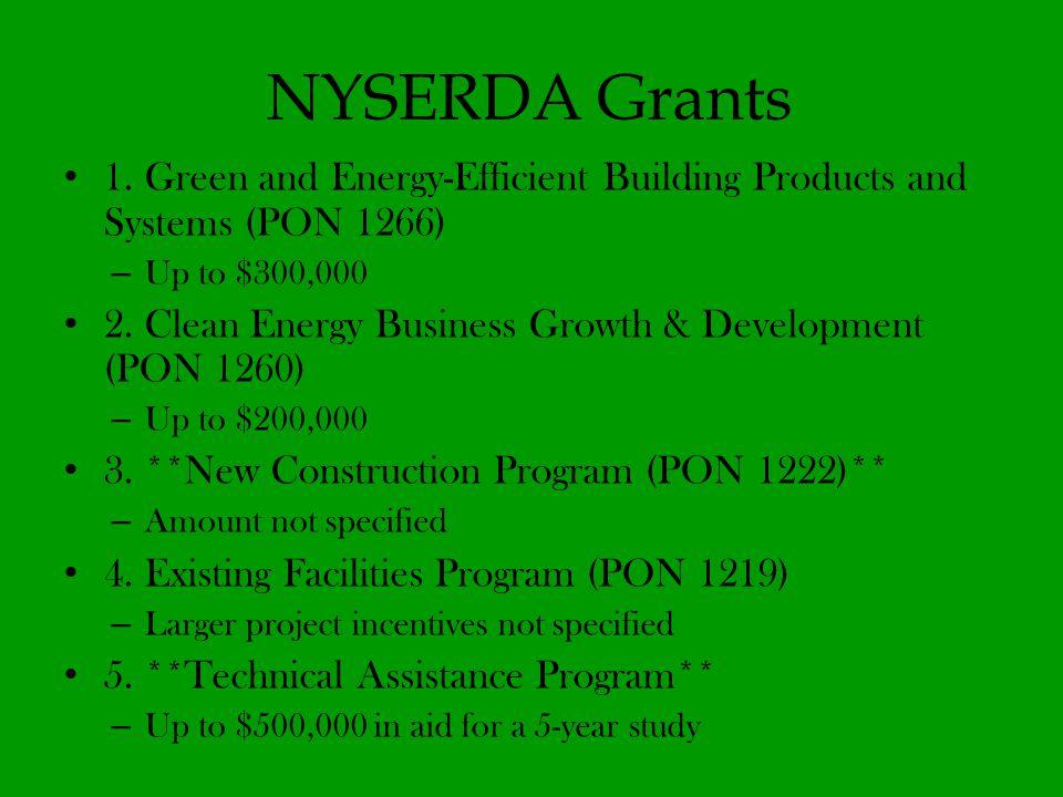NYSERDA Grants 1.