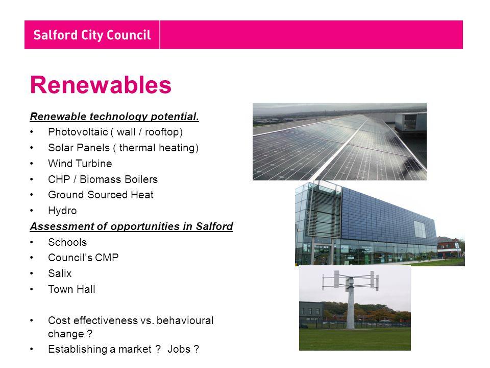 Renewables Renewable technology potential.