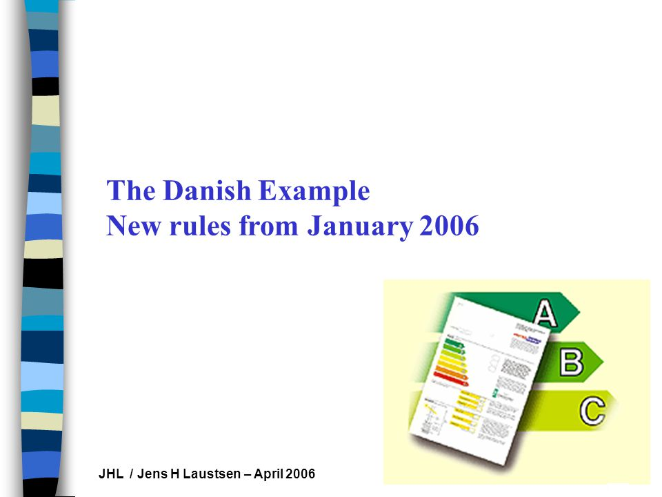 Les Hippocampes JHL / Jens H Laustsen – April 2006 The Danish Example New rules from January 2006