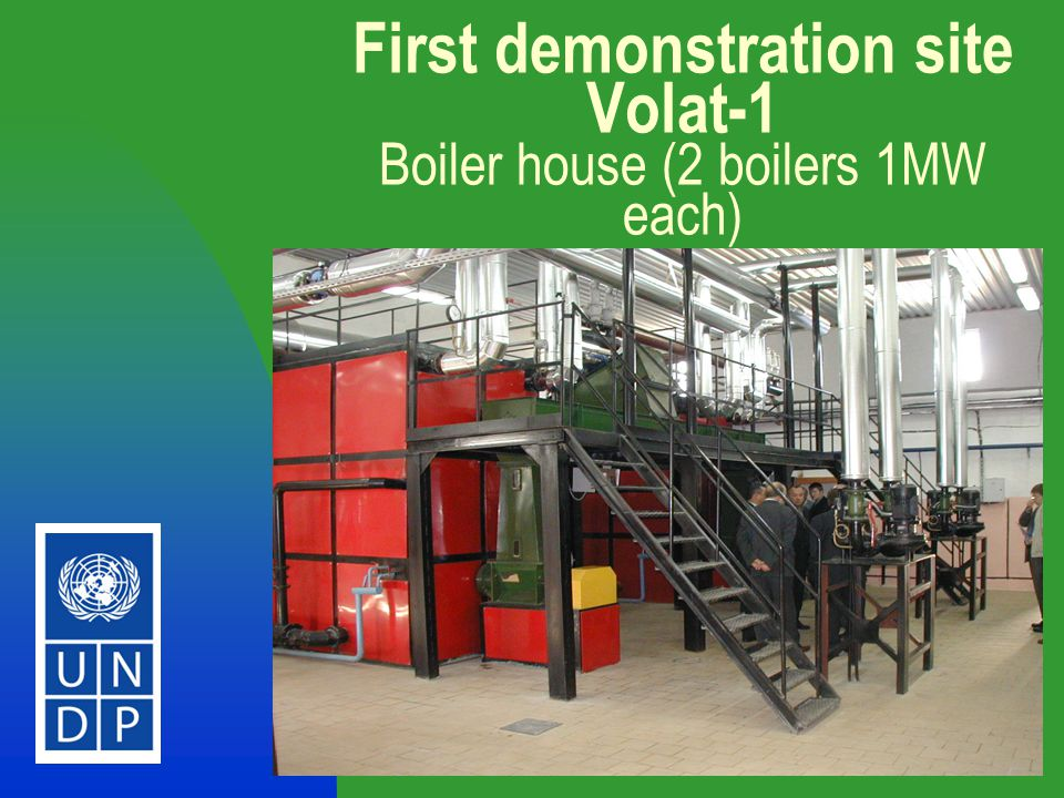 8 First demonstration site Volat-1 Boiler house (2 boilers 1MW each)