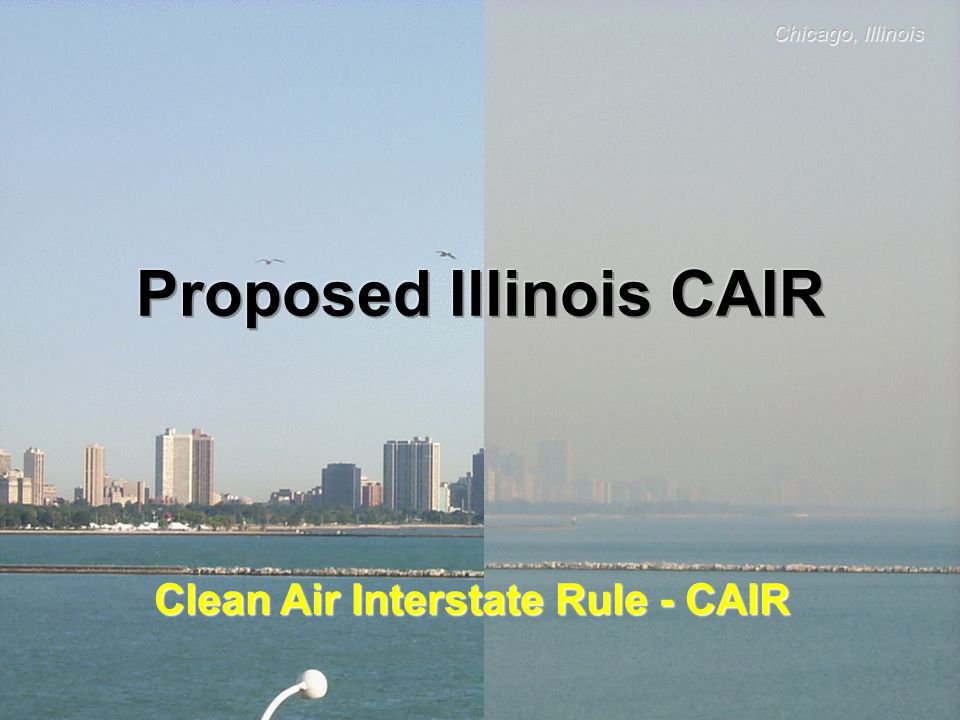 CAIR USEPA published CAIR on May 12, 2005 Regional Cap and Trade Program = Annual SO 2 & NOx reductions in 23 states and District of Columbia; Ozone season NOx reductions in 25 states and District of Columbia Air Pollution can travel hundreds of miles and cause health and environmental impacts on regional or national scales Air Pollution must be addressed in recognition of interstate pollution transport