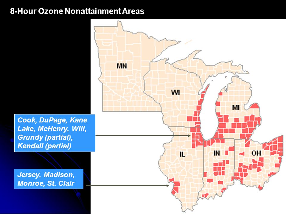 8-Hour Ozone Nonattainment Areas Jersey, Madison, Monroe, St.