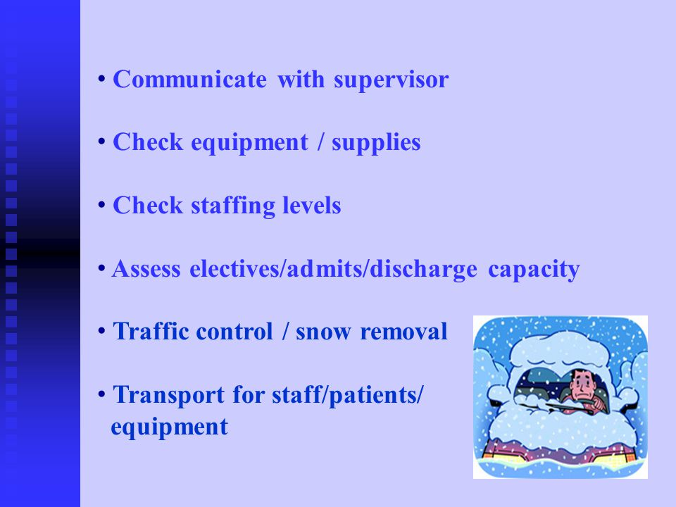 The following slides are an index that will assist shelters and alternate care facililities in determining if a citizen requires more acute care and needs to be transferred to a hospital.