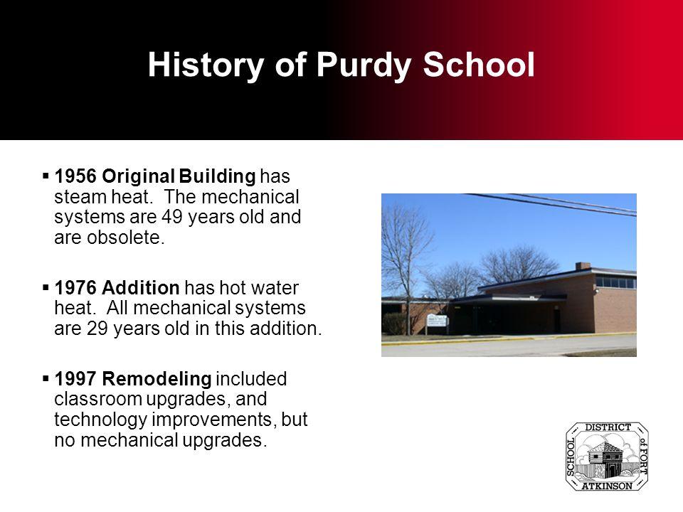 History of Rockwell School 1956 Original Building has steam heat.